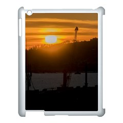 Aerial View Sunset Scene Of Montevideo Uruguay Apple Ipad 3/4 Case (white) by dflcprints
