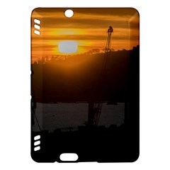 Aerial View Sunset Scene Of Montevideo Uruguay Kindle Fire Hdx Hardshell Case by dflcprints