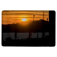 Aerial View Sunset Scene Of Montevideo Uruguay Ipad Air Flip by dflcprints