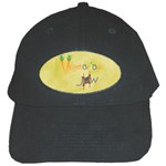 Vegan Jewish Star Black Cap