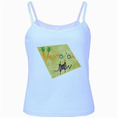 VeggieJew02_12_7_2015 Baby Blue Spaghetti Tank from ArtsNow.com Front