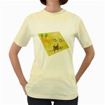 VeggieJew02_12_7_2015 Women s Yellow T Front