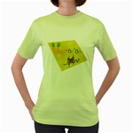 vegan jstar_12_7_2015 Women s Green T-Shirt