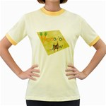 vegan jstar_12_7_2015 Women s Fitted Ringer T-Shirt