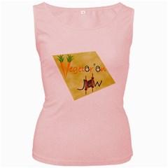 vegan jstar_12_7_2015 Women s Pink Tank Top from ArtsNow.com Front