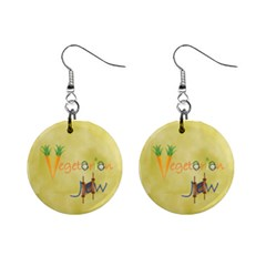 VeggieJew02_12_7_2015 1  Button Earrings from ArtsNow.com Front