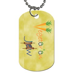 VeggieJew02_12_7_2015 Dog Tag (Two Sides) from ArtsNow.com Front