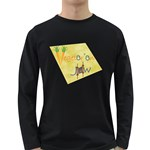 Vegan Jewish Star Long Sleeve Dark T-Shirt