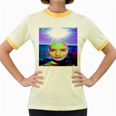Sunshine Illumination Women s Fitted Ringer T Shirts by icarusismartdesigns