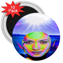 Sunshine Illumination 3  Magnets (10 Pack)  by icarusismartdesigns