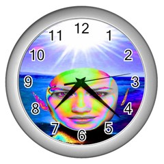 Sunshine Illumination Wall Clocks (silver)  by icarusismartdesigns