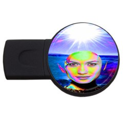 Sunshine Illumination Usb Flash Drive Round (2 Gb)  by icarusismartdesigns