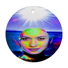 Sunshine Illumination Round Ornament (two Sides)  by icarusismartdesigns