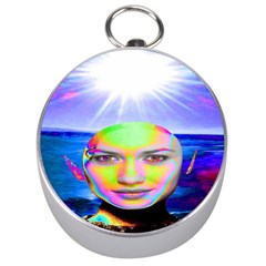 Sunshine Illumination Silver Compasses by icarusismartdesigns