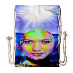 Sunshine Illumination Drawstring Bag (large) by icarusismartdesigns
