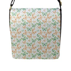 Butterflies Flap Closure Messenger Bag (l) by 4SeasonsDesigns