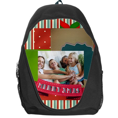 Xmas By Joy   Backpack Bag   L81omx4qjb73   Www Artscow Com Front