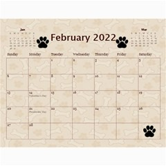 Dog Calender 2016 By Joy Johns   Wall Calendar 11  X 8 5  (12 Months)   O0p58zrueg3b   Www Artscow Com Feb 2016