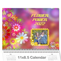 Flower Power 2016 By Joy Johns   Wall Calendar 11  X 8 5  (12 Months)   Cexkok6xtgfe   Www Artscow Com Cover