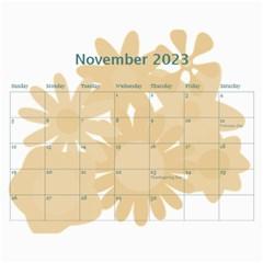 Flower Power 2016 By Joy Johns   Wall Calendar 11  X 8 5  (12 Months)   Cexkok6xtgfe   Www Artscow Com Nov 2016