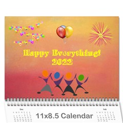 Happy Everything, 2016 By Joy Johns   Wall Calendar 11  X 8 5  (12 Months)   4hbbpipbq5db   Www Artscow Com Cover