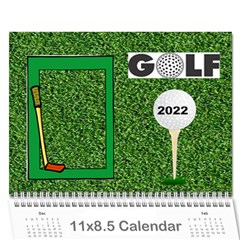 Golf Calendar, 2016 By Joy Johns   Wall Calendar 11  X 8 5  (12 Months)   Uganeb8i7473   Www Artscow Com Cover