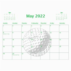 Golf Calendar, 2016 By Joy Johns   Wall Calendar 11  X 8 5  (12 Months)   Uganeb8i7473   Www Artscow Com May 2016