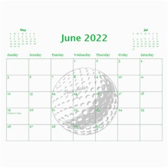 Golf Calendar, 2016 By Joy Johns   Wall Calendar 11  X 8 5  (12 Months)   Uganeb8i7473   Www Artscow Com Jun 2016