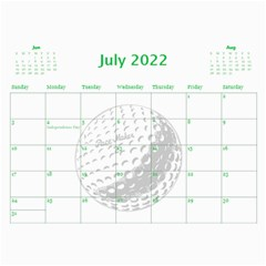 Golf Calendar, 2016 By Joy Johns   Wall Calendar 11  X 8 5  (12 Months)   Uganeb8i7473   Www Artscow Com Jul 2016