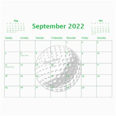 Golf Calendar, 2016 By Joy Johns   Wall Calendar 11  X 8 5  (12 Months)   Uganeb8i7473   Www Artscow Com Sep 2016