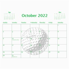 Golf Calendar, 2016 By Joy Johns   Wall Calendar 11  X 8 5  (12 Months)   Uganeb8i7473   Www Artscow Com Oct 2016