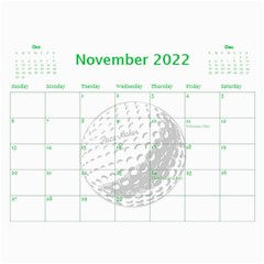 Golf Calendar, 2016 By Joy Johns   Wall Calendar 11  X 8 5  (12 Months)   Uganeb8i7473   Www Artscow Com Nov 2016