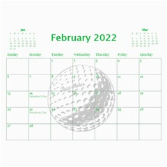 Golf Calendar, 2016 By Joy Johns   Wall Calendar 11  X 8 5  (12 Months)   Uganeb8i7473   Www Artscow Com Feb 2016