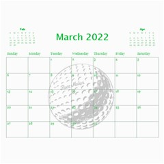 Golf Calendar, 2016 By Joy Johns   Wall Calendar 11  X 8 5  (12 Months)   Uganeb8i7473   Www Artscow Com Mar 2016