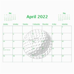 Golf Calendar, 2016 By Joy Johns   Wall Calendar 11  X 8 5  (12 Months)   Uganeb8i7473   Www Artscow Com Apr 2016
