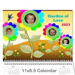 Garden Of Love Calendar 2016 By Joy Johns   Wall Calendar 11  X 8 5  (12 Months)   Vxd4pegxbgun   Www Artscow Com Cover