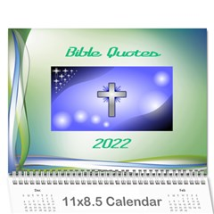Bible Quotes Calendar, 2019 By Joy Johns   Wall Calendar 11  X 8 5  (12 Months)   Bw2xwzp419qq   Www Artscow Com Cover