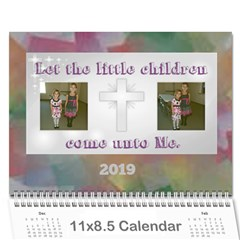 Children s Bible Calendar By Joy Johns   Wall Calendar 11  X 8 5  (12 Months)   Hblp025byvm2   Www Artscow Com Cover