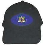 Vegan Jewish Star Black Cap