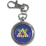Vegan Jewish Star Key Chain Watch