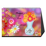bouquet of love desk calender - Desktop Calendar 8.5  x 6