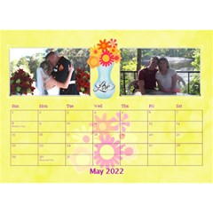 Bouquet Of Love Desk Calender By Joy Johns   Desktop Calendar 8 5  X 6    1k2n2p90844r   Www Artscow Com May 2016
