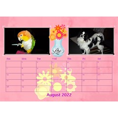 Bouquet Of Love Desk Calender By Joy Johns   Desktop Calendar 8 5  X 6    1k2n2p90844r   Www Artscow Com Aug 2016