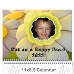 Happy Face wall calendar, 8X11 - Wall Calendar 11  x 8.5  (12-Months)