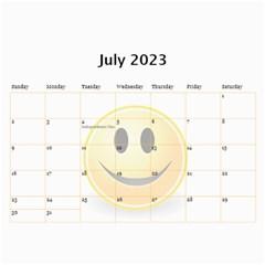 Happy Face Wall Calendar, 8x11 By Joy Johns   Wall Calendar 11  X 8 5  (12 Months)   Zbipdf7y8mnt   Www Artscow Com Jul 2016