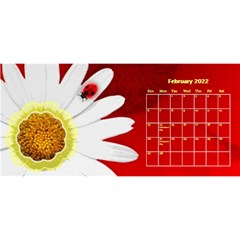Flower Desktop 11x5 Calendar By Joy Johns   Desktop Calendar 11  X 5    Uxmz1kgb3f9k   Www Artscow Com Feb 2016