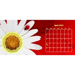 Flower Desktop 11x5 Calendar By Joy Johns   Desktop Calendar 11  X 5    Uxmz1kgb3f9k   Www Artscow Com Apr 2016