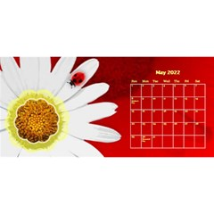 Flower Desktop 11x5 Calendar By Joy Johns   Desktop Calendar 11  X 5    Uxmz1kgb3f9k   Www Artscow Com May 2016