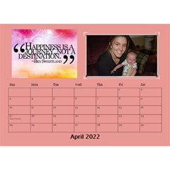 Happy Face Desk Calender By Joy Johns   Desktop Calendar 8 5  X 6    Rtxx9xrpqt77   Www Artscow Com Apr 2016