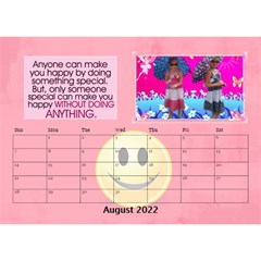 Happy Face Desk Calender By Joy Johns   Desktop Calendar 8 5  X 6    Rtxx9xrpqt77   Www Artscow Com Aug 2016